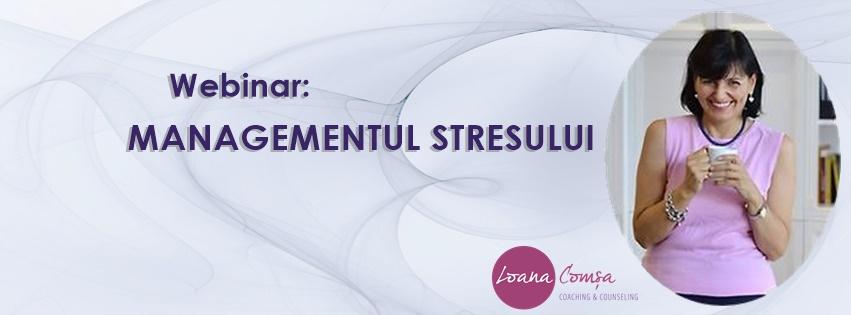 Webinar Managementul Stresului